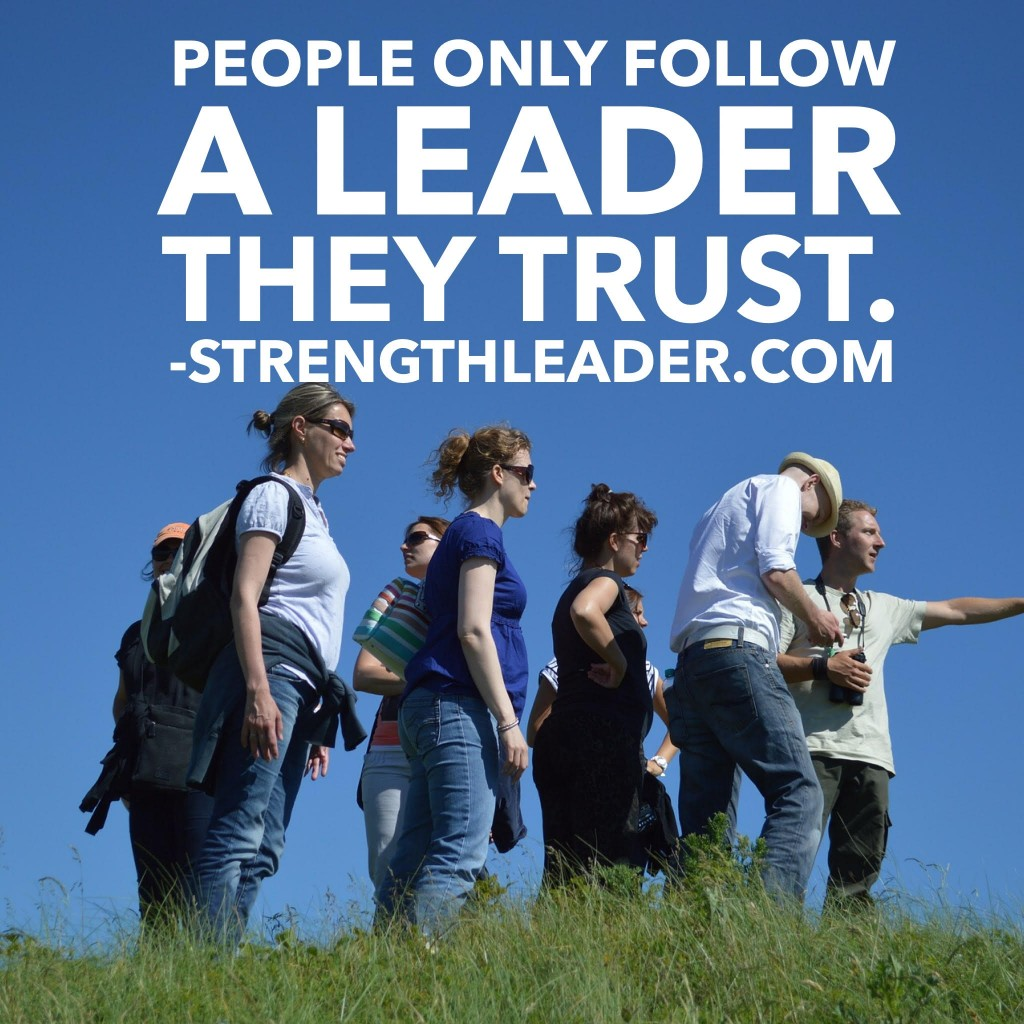 people follow leaders they trust