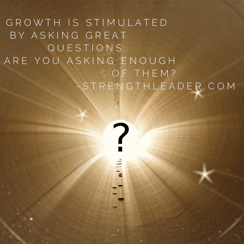 growth is stimulated by questions