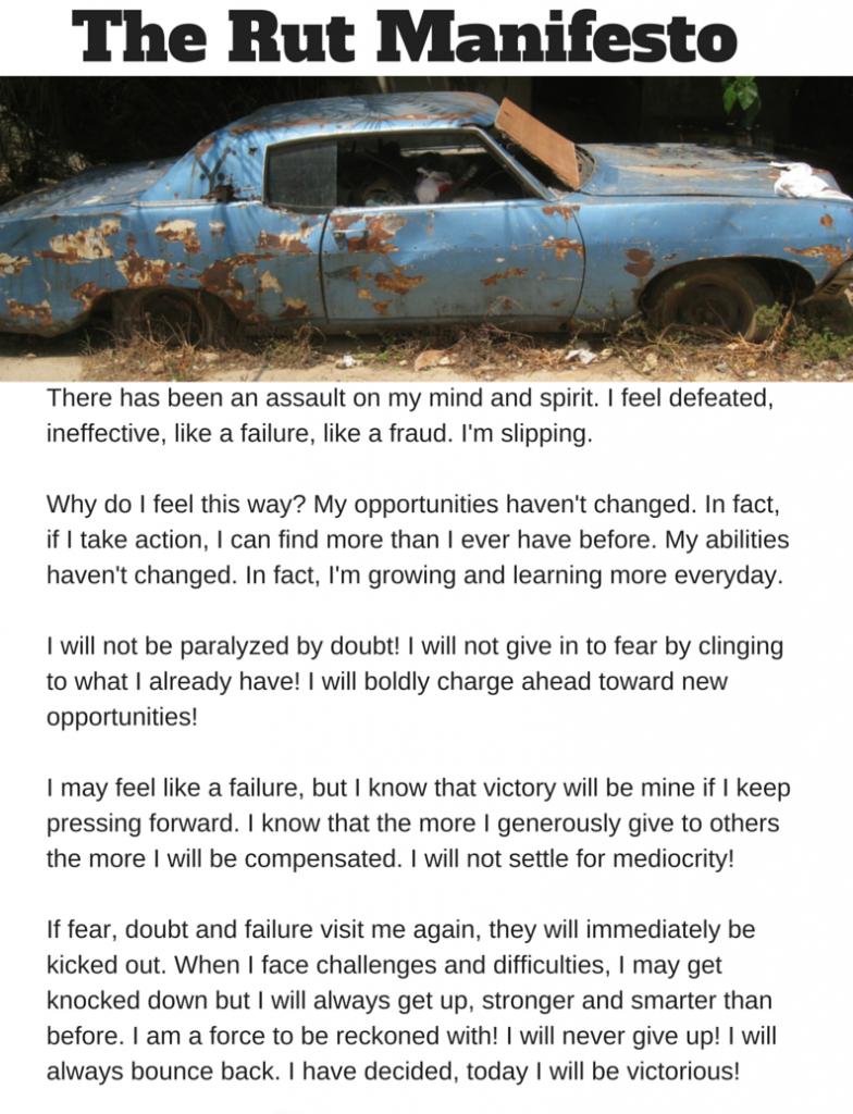 The Rutt Manifesto