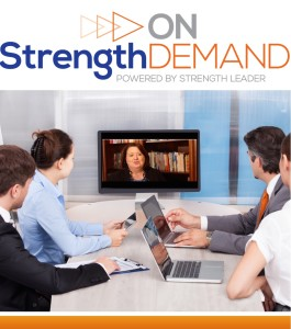 Strength on demand sales icon