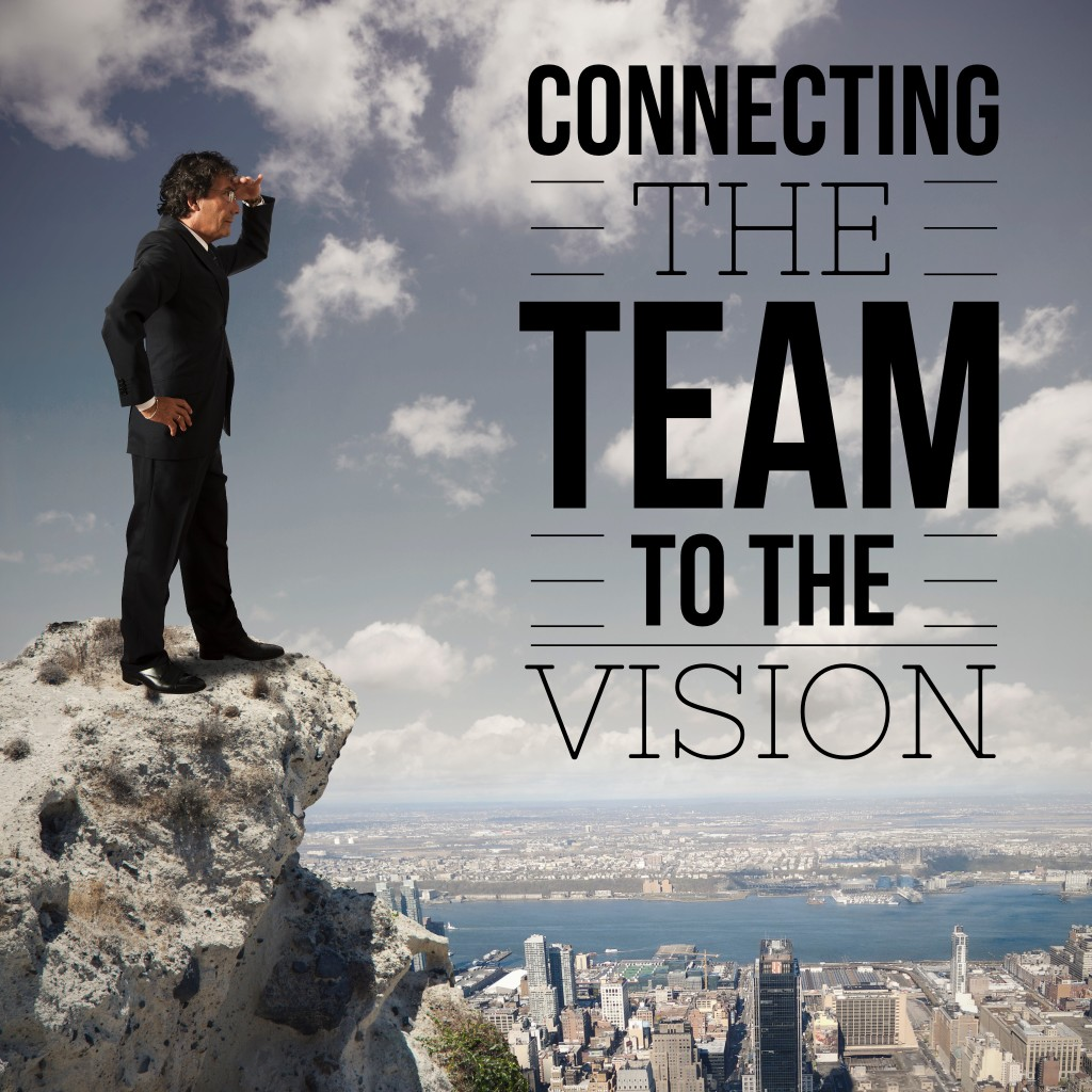 connect the team with vision and How to establish a vision statement employees will get behind  3 things shared by top performing teams, whether on the field or  connect the company's vision statement to various tasks and.